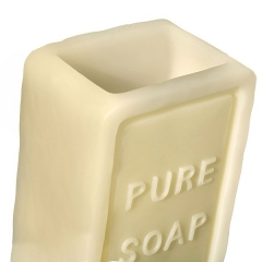 Vaso ba�o soap rectangular beige 2 - la llimona home