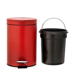 Accesorios de ba�o. papelera ba�o tauro roja mate 2 - la llimona home