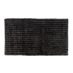 Alfombra ba�o stripes negra - la llimona home
