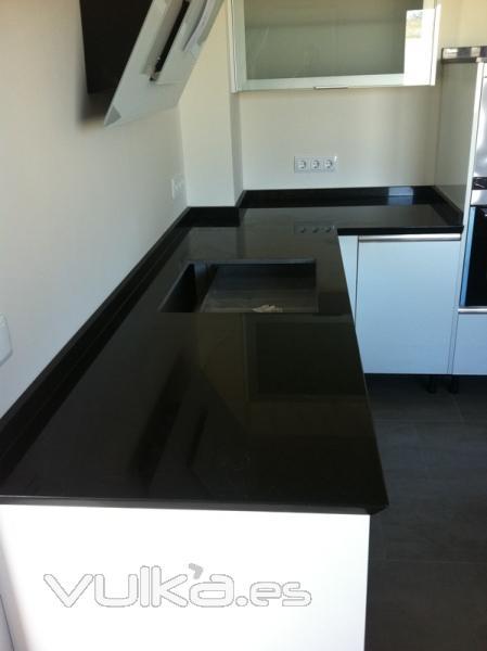 encimera cocina granito negro zimbawe