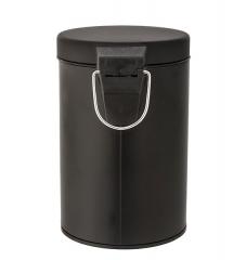 Accesorios de ba�o. papelera ba�o tauro negra mate 1 - la llimona home