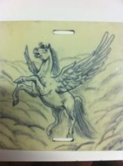 Tattoo caballo alado