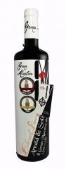 Vino tinto de autor. monovariedad cabernet sauvignon. medalla de oro terravino 2012 y premio al mejo