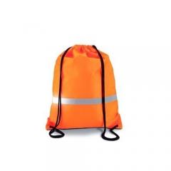 Mochilla alta visibilidad color naranja con banda retroreflectante