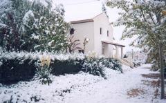 Casa rural en caravaca con nieve