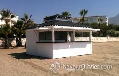 Inicio de montaje de chiringuito en puerto banus, m�laga by www.navarrolivier.com