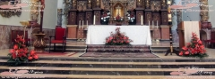 Decoraci�n de altar.