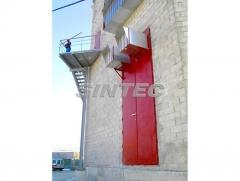 Puerta ac�stica tc de grandes dimensiones con silenciadores incorporados.
