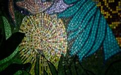 Mosaico sicis colibri artistico