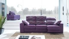 Vistoso sof� en color morado
