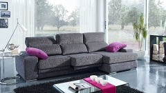 Sof� de 3 plazas tapizado en color gris