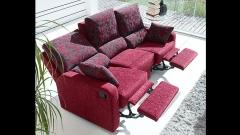Practico sof� reclinable de 3 plazas