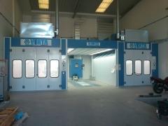 Cabinas de pintura y zona de preparacion Nova Verta en Madrid