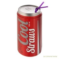 Gifts. dispensador de pajitas cool straws rojo 1 - la llimona home