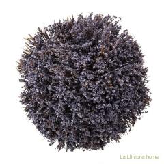 Arreglo floral violet lavanda artificial redondo 30 2 - la llimona home