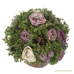 Arreglo floral natur maceta flores artificiales malva 17 1 - la llimona home