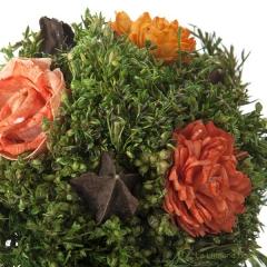 Arreglo floral natur maceta deco flores artificiales naranja 14 3 - la llimona home