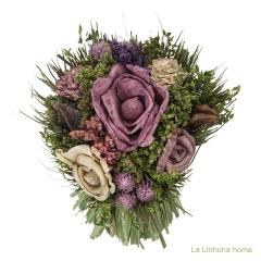 Arreglo floral natur flores artificiales malva 20 1 - la llimona home