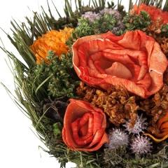 Arreglo floral natur flores artificiales naranja 20 3 - la llimona home