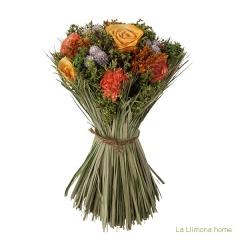 Arreglo floral natur flores artificiales naranja 30 - la llimona home