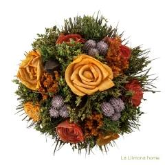 Arreglo floral natur flores artificiales naranja 30 2 - la llimona home