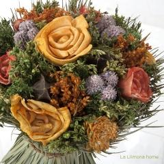Arreglo floral natur flores artificiales naranja 30 3 - la llimona home