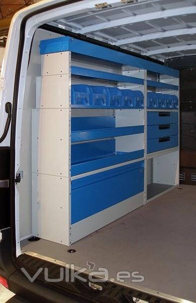Abuc system equipamiento de furgonetas - Estanterias metalicas valencia ...