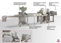 L�nea modular para la producci�n de flanes.