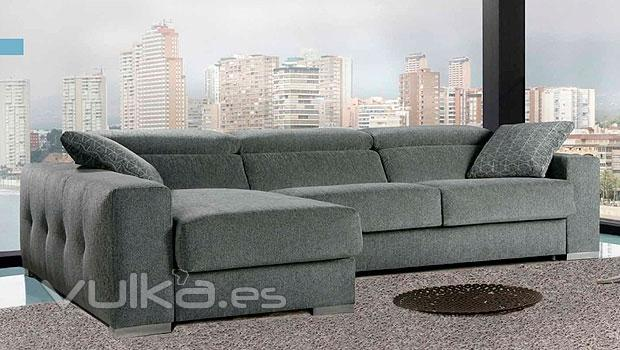 Foto Sofa En Color Gris Con Cheslong