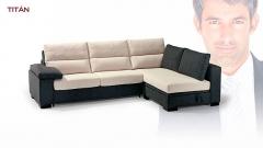 Moderno sofa de 3 plazas combinado en 2 colores