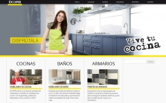 Diseño y desarrollo de la página web de cocinas dcoper