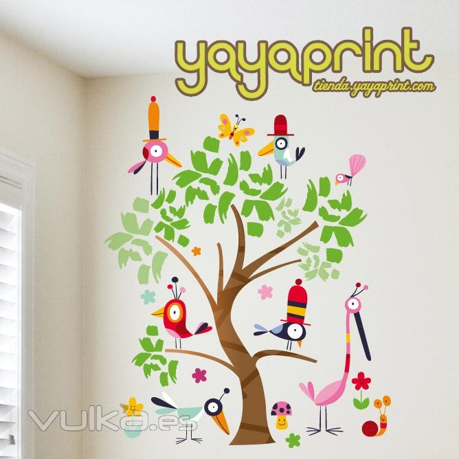 Vinilos infantiles vinilo decorativo for Pegatinas pared arbol infantil
