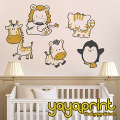 Vinilo decorativo para pared. vinilo infantil, decorar habitaci�n ni�os y ni�as. animales, tienda