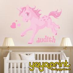 Vinilo decorativo para pared. vinilo infantil, decorar habitaci�n ni�os y ni�as. pony, tienda