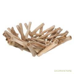 Decoraci�n. centro mesa troncos madera 40 - la llimona home
