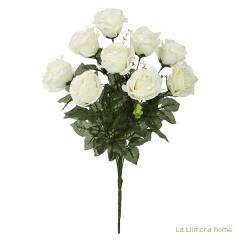 Ramo artificial flores rosas blancas 52 1 - la llimona home