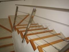 Baranda de escalera en acero