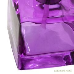 Dosificador ba�o glass cuadrado transparente malva 2 - la llimona home