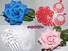 Complementos de flamenca y flores para ni�as