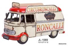 Replica de met�l furgoneta circo