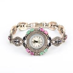 Reloj plata piedras preciosas