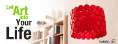 Taplight, una original l�mpara de techo creada con tapones de envases