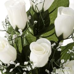 Todos los santos. ramo artificial flores rosas blancas con gypsophilas 38 1 - la llimona home