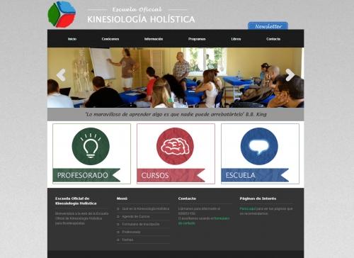 Diseño de la página web de la Escuela Kineholística