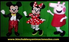 Mickey mouse, minnie mouse y pepa pig en huelva