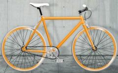fixie naranja de Moma bikes