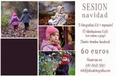 Oferta sesiones fotográficas navidad en Granada