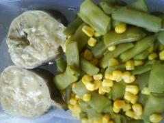 Cóngrio con verduras