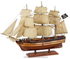 Maqueta de barco pirata en artesan�a n�utica