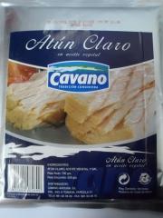 Bolsa de atún claro en aceite vegetal 1 kg cavano
